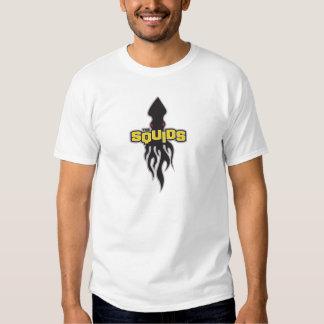 Flaming SQUIDS logo GOLD T-shirt