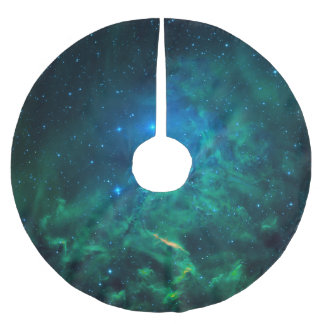 Flaming Star Nebula Brushed Polyester Tree Skirt