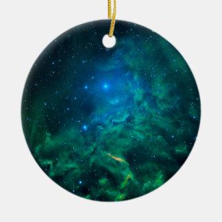 Flaming Star Nebula Christmas Ornament