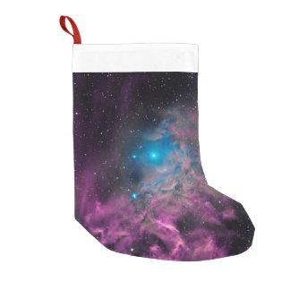 Flaming Star Nebula Small Christmas Stocking