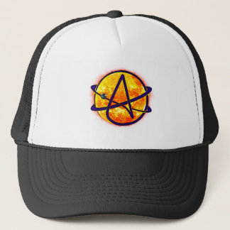 Flaming Sun Atheist Symbol Trucker Hat