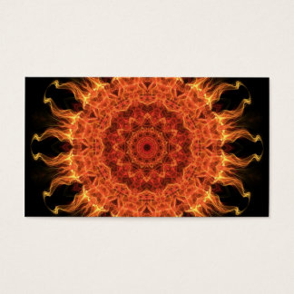 Flaming Sun Business Card