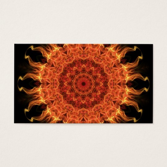 Flaming Sun Business Card