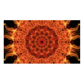 Flaming Sun Pack Of Standard Business Cards