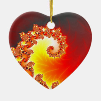 Flaming Tentacle - Fractal Art Christmas Ornament