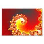 Flaming Tentacle - Fractal Art Photographic Print