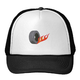 FLAMING TIRE TRUCKER HAT