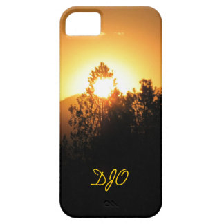 Flaming tree sunset case for the iPhone 5