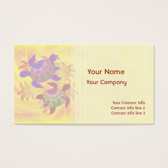 Flaming Turtles Business Card Template