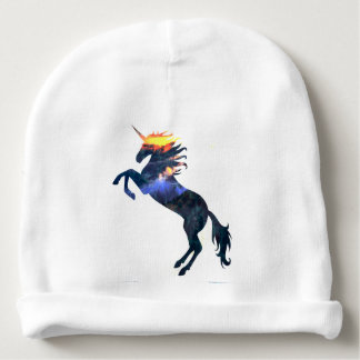 Flaming unicorn baby beanie