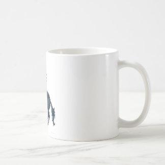 Flaming unicorn coffee mug
