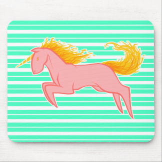 Flaming Unicorn Mouse Pad