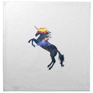 Flaming unicorn napkin