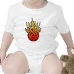 Flaming Volleyball Romper