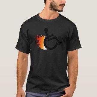 Flaming Wheelchair T-Shirt