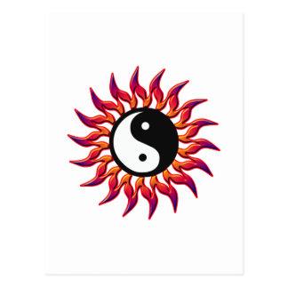 Flaming Yin Yang Sun Postcard