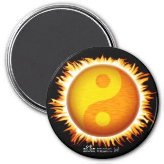 Flaming Yin Yang Sun Symbol Magnets