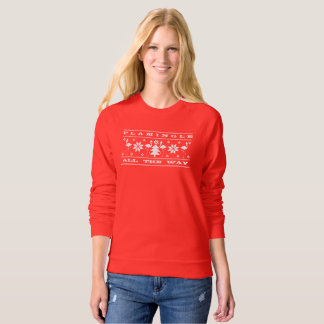 Flamingle All The Way Funny Christmas Sweater