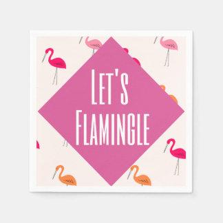 Flamingle Paper Napkin