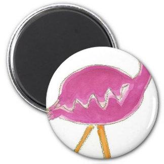 Flamingo 6 Cm Round Magnet