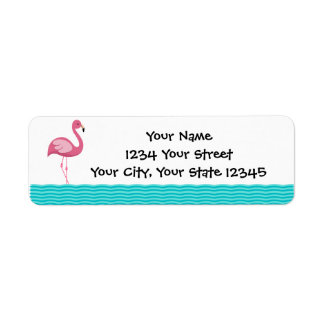 Flamingo Address Label
