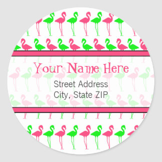Flamingo Address Label Sticker