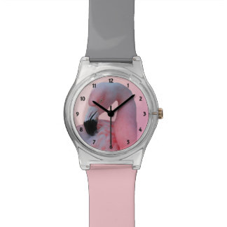 Flamingo and Beach Wrist Watch