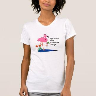 Flamingo and cabana boy tank top