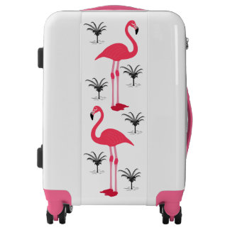 Flamingo and Palm Trees Luggage