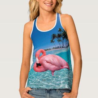 Flamingo and Palms Tank Top