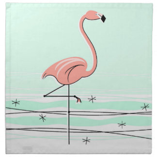 Flamingo Aqua cloth napkins (set)