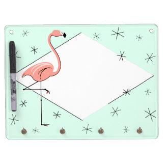 Flamingo Aqua Diamond keychain board