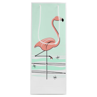 Flamingo Aqua gift bag bottle