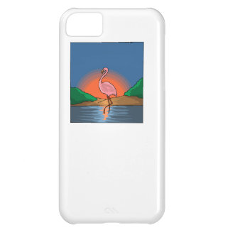 Flamingo At Sunset Case For iPhone 5C