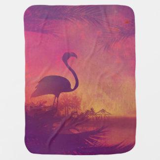 flamingo baby blanket
