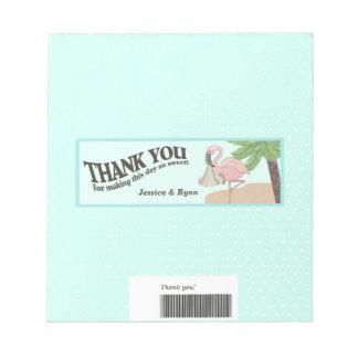 Flamingo Baby Candy Bar Wrap Notepad