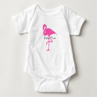 Flamingo baby - Customize name or add a number Baby Bodysuit