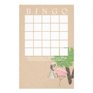 Flamingo Baby Shower Bingo Card Personalized Stationery