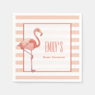 Flamingo Baby Shower Napkins Paper Napkins