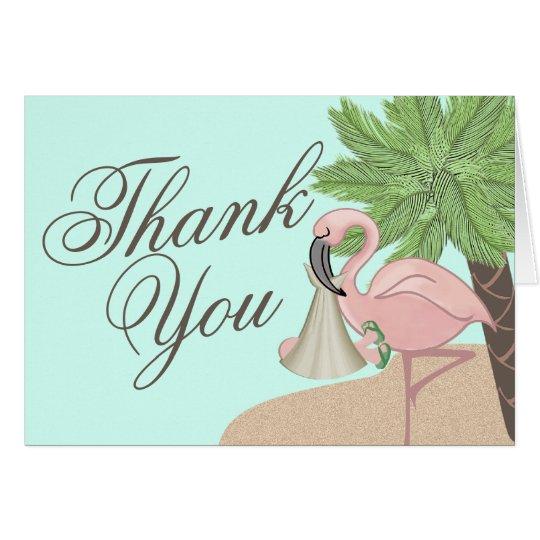 Flamingo Baby Thank You Card