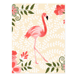 Flamingo Bird Postcard