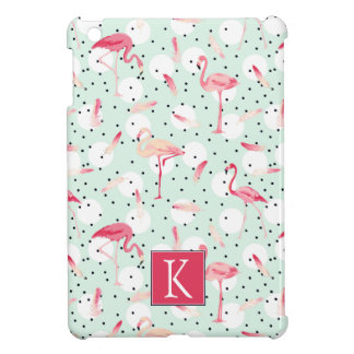 Flamingo Bird With Feathers | Add Your Initial Case For The iPad Mini