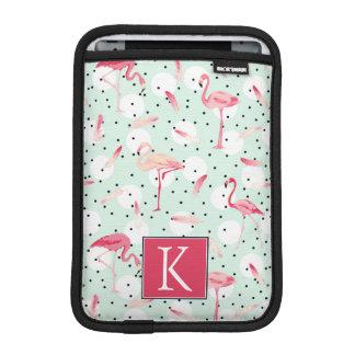 Flamingo Bird With Feathers | Add Your Initial iPad Mini Sleeve
