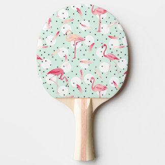 Flamingo Bird With Feathers Ping Pong Paddle