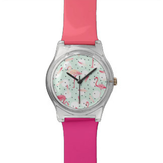 Flamingo Bird With Feathers Watches