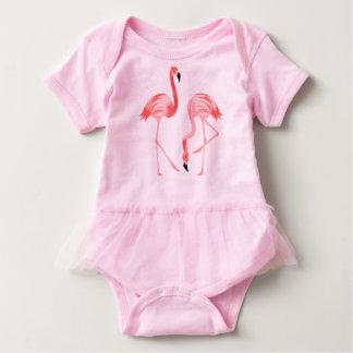 Flamingo Birds Baby Bodysuit