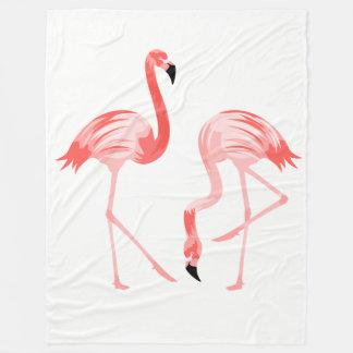 Flamingo Birds Fleece Blanket