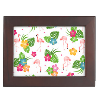 Flamingo Birds Keepsake Box