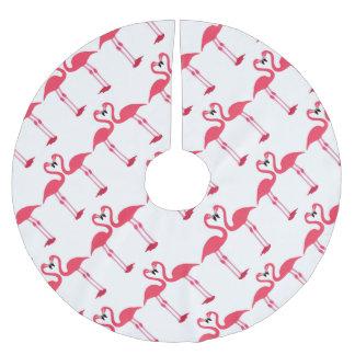flamingo-birds-love- brushed polyester tree skirt