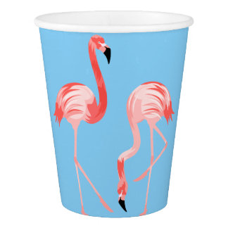 Flamingo Birds Paper Cup